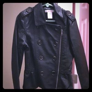 Joe Fresh Girl Black Leather Jacket